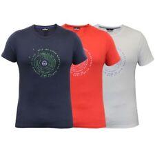 Camiseta Hombre Duck And Cover Manga Corta Cuello Redondo de Algodón Informal