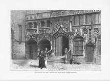 Basilique du Saint-Sang Bruges Heilig-Blut-Basilika HOLZSTICH um 1880