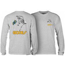 Powell Peralta Skateboard Long Sleeve Shirt Skateboard Skeleton Grey