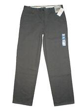 Dockers Men's Easy Khaki D2 Straight Fit Flat Front Pant, Storm Gray New $50