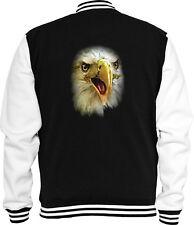 Animal Sweat College Jacke Eagle Face USA Adler Tier Natur