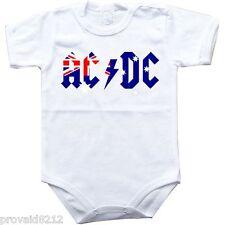 Baby bodysuit AC DC Australia flag ACDC rock One Piece jersey t-shirt tee