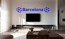 BARCELONA Football Bedroom Poster Wall Art Sticker, Decal, Car Vinyl, mural