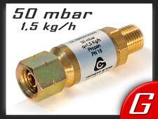 """Gas Schlauchbruchsicherung 50 mbar - 1,5 kg/h - 1/4 """"  Sicherung Druckminderer"""