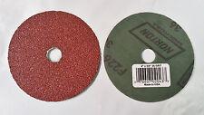 "4"" x 5/8"" Fiber Resin Sanding Disc, A/O, Norton, 50 pack, You Choose Grit"