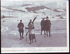 1923  --  ROI ET REINE DES BELGES APRES EXCURSION AU MONT JOLY   Z944
