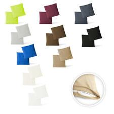 Kissenbezug  Kissenhülle Jersey 2er Pack m. RV hohe Qualität 40 x 40 - 40 x 145