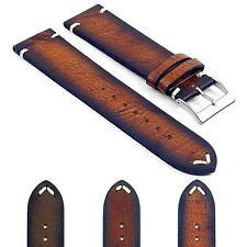 DASSARI Kingwood Leather Hand Finished Mens Vintage Watch Strap Band w Stitching