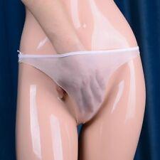 3 X Women See Through Panties Briefs Thongs Underwear Shiny Oiled Silky Soft 1D