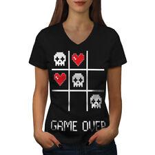 Game Nerd Computer Geek Women V-Neck T-shirt NEW | Wellcoda