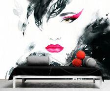 3D Flirtatious girl 2 Wall Paper Print Decal Wall Deco Indoor wall Murals Home