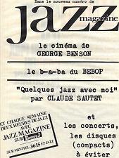 PUBLICITE ADVERTISING  1988    EUROPE 1 radio  deux heures de Jazz CLAUDE SAUTET