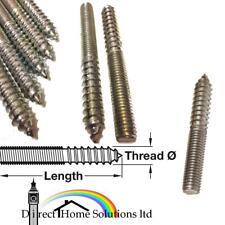 FURNITURE FIXING SCREW WOOD TO METAL DOWEL SCREWS M6 M8 M10 STEEL SELF COLOURED