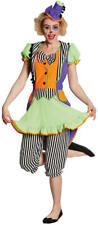 Clownkleid Clown neon Karneval Fasching Kostüm 36-46
