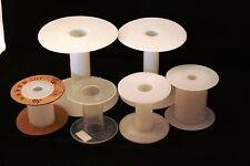 5 Unbranded Empty Plastic Reels Spools Bobbins Different Sizes