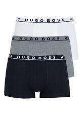 HUGO BOSS Boxershort Logoschriftzug 3er Pack weiß/grau/schwarz - Gr. S,M,L,XL,XX