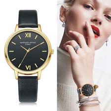 Reloj de pulsera lujo Cuero PU Delgado De Marca analógico Relojes Pulsera De Moda Elegante