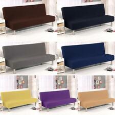 Solid Sofa Bed Cover Folding Armless Elastic Fabric Futon All-inclusive Cover