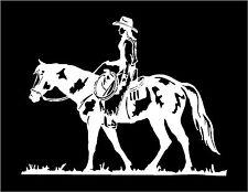 Pleasure Horse Decal with Cowgirl car truck trailer window vinyl sticker