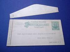 Equitable Life Assurance Society - older U.S. stamped Letter sheet.