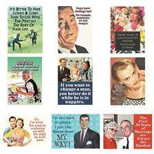 Retro Humour Relationship Fridge Magnet Gift Novelty Men Women Husband Wife Meme