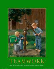 John Deere Tractor Motivational Poster Art Ertl Toys Sign Charles Freitag MVP96