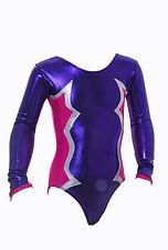 GYMNASTIQUE Justaucorps filles femmes Gym Danse leotards CLS Purple&pink