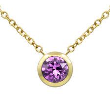 Stellia Birthstone Sphere 24K Gold-Plated Stainless Steel Necklace w. Swarovski