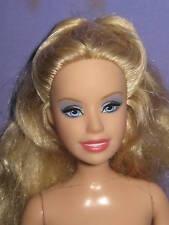 Blond Barbie w/ Silver-Gray Eye Shadow -Nude For Ooak