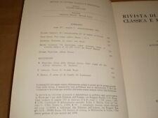 rivista di cultura classica e medievale  3,73