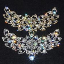 Fashion Bridal Sew On Dress Applique AB Crystal Rhinestone Wedding Supply Trim