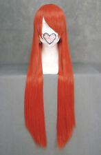 Perruque longue orange rouge 80cm, cosplay inoue orihime