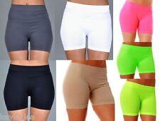 Neons & Neutrals Nylon/Spandex Walking/Bike/Athletic Shorts OS
