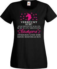 Einhorn T Shirt Unicorn Damen Verrückt Ich Spruch Fun Sterne Kult Klamotten Swag