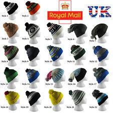 Pom PomHat Cap Men's Women's Knit Winter Beanie  Bobble Cap Different Styles