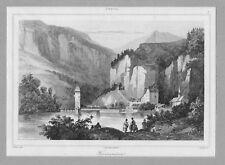 TYROL. Finstermünz. Panorama. St. v. Lemaitre um 1838