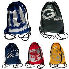 NFL FOOTBALL LEAGUE SCHOOL LUNCH SPORTS KIT BAGS DRAWSTRING PE GYM SWIM BAG (FP)