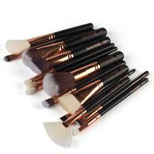 15 Pcs Pro Makeup Set Powder Foundation Eyeshadow Eyeliner Lip Cosmetic Brushes