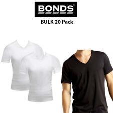Mens Bonds Original Raglan V Neck BULK 20 Pack Tee T-Shirt Short Sleeve M9762W