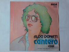 """ALDO DONATI Canterò canterò canterò 7"""" SANREMO 1980"""