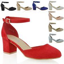 Chaussures Femme Basses Femme Talon Bloc Bride Cheville Mary Jane Escarpins Sandales Taille