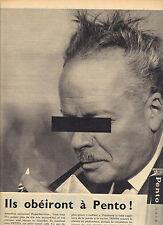PUBLICITE ADVERTISING    1955   PENTO  cheveux obeissants