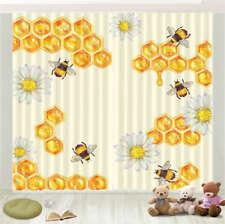 Honeycomb Drips Honey 3D Curtain Blockout Photo Printing Curtains Drape Fabric