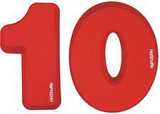Gran Silicona número 10 Cake Tin Moldes décimo aniversario de cumpleaños de latas de Moldes