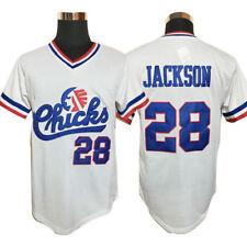 Baseball Jersey #28 Bo Jackson Chicks Baseball Jersey White Movie Jersey