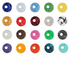 Das Original Ring Ding Acryl Scheibe Aquarell 25 mm asymmetrisch in 20 Farben