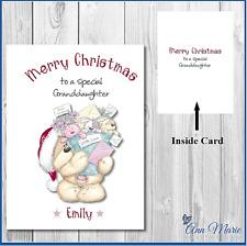 Personalised Christmas Card Xmas Greetings Cards Granddaughter Daughter Niece