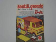 advertising Pubblicità 1974 ROULOTTE BARBIE
