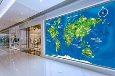 3D Cute World Map 1048 WallPaper Murals Wall Print Decal Wall Deco AJ WALLPAPER