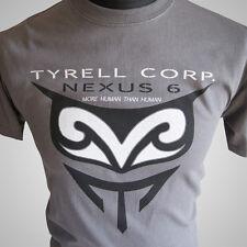 Blade Runner Nexus 6 Tyrell Corp Replicant Retro Movie T Shirt Grey
